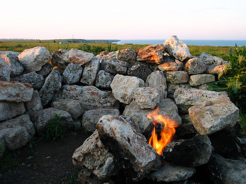 Unique!: From the rocks at Kamen Bryag there is a natural gas shrine which everyone can light up and cook on for free.